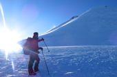 Sklibesteigung Georgien, Kasbek, 5047 m. Foto: Dr. Stephanie Geiger.