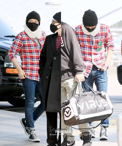 Big Bang - Incheon Airport - 01apr2015 - Seung Ri - Partnervi - 03