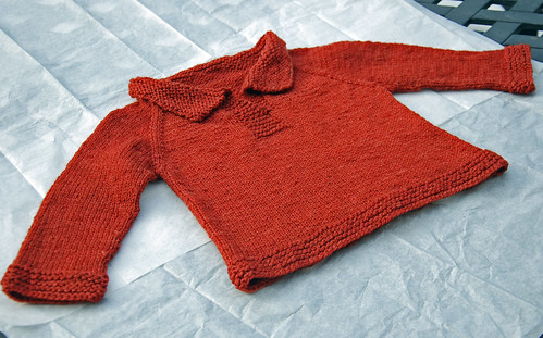 Telemark knitted baby pullover in Sheepspot Clun Forest Sport by irieknit