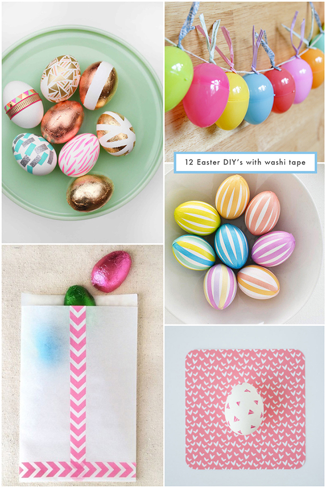 12 Easter DIY's With Washi Tape