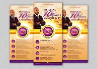 Clergy Anniversary Rack Card Template