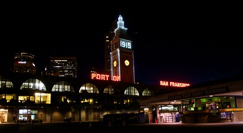 Ferry Building with 1915 Lights 3-2015