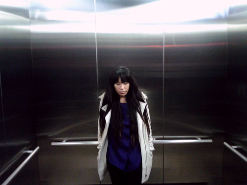Ana in Elevator (April 20 2014)