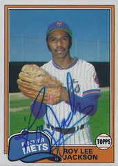 1981 Topps - Roy Lee Jackson #223 (Pitcher) - Autographed Baseball Card (New York Mets)