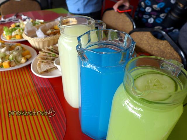 Lemonade, Blue, Cucumber (95 Pesos per pitcher)