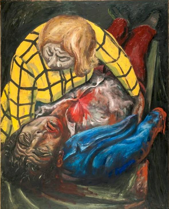 El obrero herido, óleo sobre tela, 1949