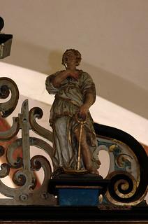 Daverden, Niedersachsen, St.-Sigismundkirche, altar, a virtue : hope