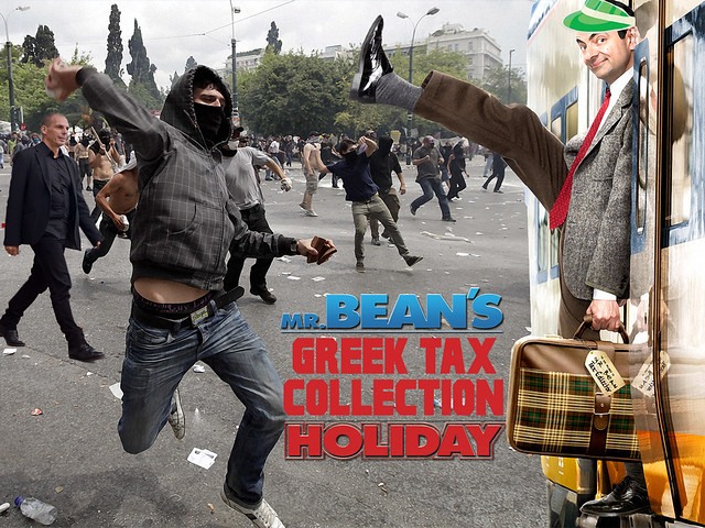MR BEAN'S GREEK TAX COLLECTION HOLIDAY