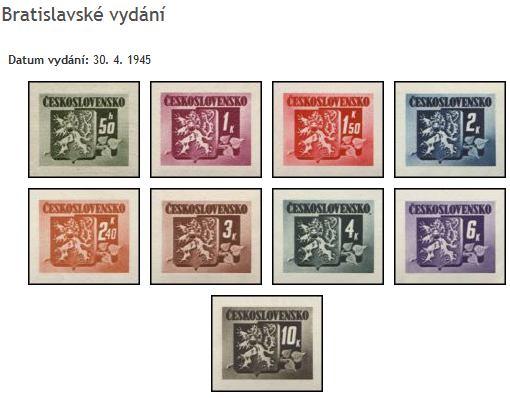 Známky Československo 1945, Bratislavské vydání