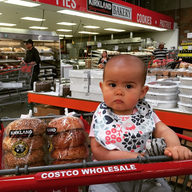 Weekend errands - shopping and laundry. But I think this was Melanie's first visit to Costco. She held her kitty cat the entire time. ????
