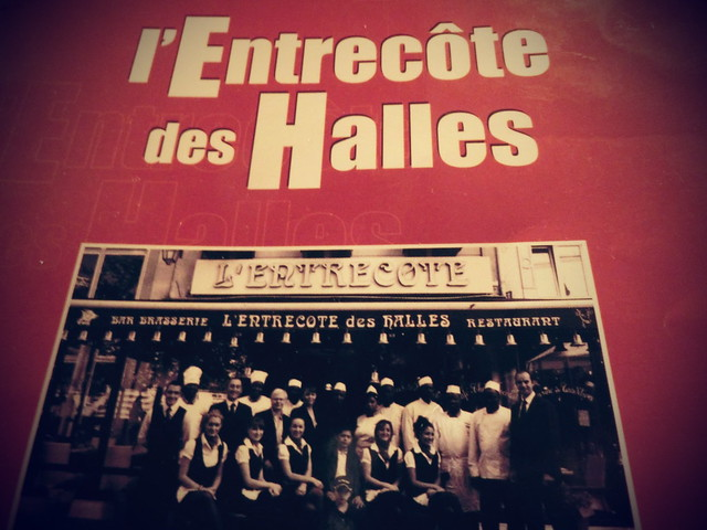 用中文遊巴黎-L'Entrecôte des Halles-法式 (3)