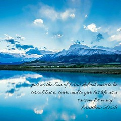 Words of GOD for today http://bible.com/111/mat.20.28.NIV