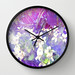 VIOLETS FLOWERS ON A DREAM CLOCK