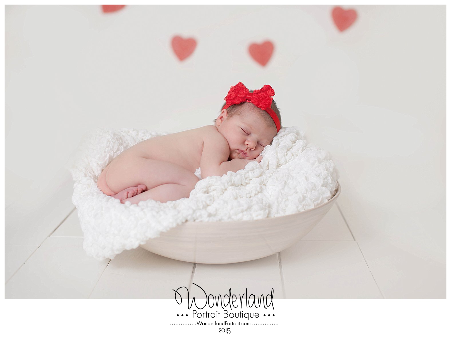 Valentine's Day Newborn Pose Richboro Photographer   WonderlandPortrait.com