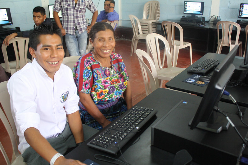 indigenous Mayan computer technology student in rural Guatemala, Central America