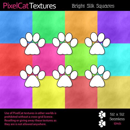 PixelCat Textures - Bright Silk Squares