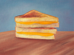 Grilled Cheese Sandwich Oil Painting