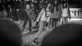 Vintage ice skater