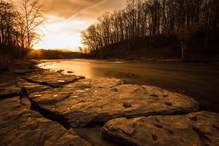 Sunset at Lower Cataract Falls