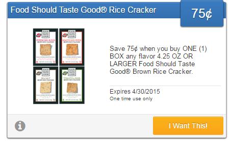 $0.75 cash back on Food Should Taste Good Tortilla Chips