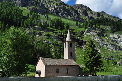Eglise St Laurent (XVe), Sils-Baselgia, district de Maloja, Engadine, canton des Grisons, Suisse.