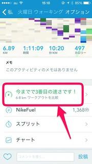 RunKeeper アクティビティ履歴詳細 旧バージョン