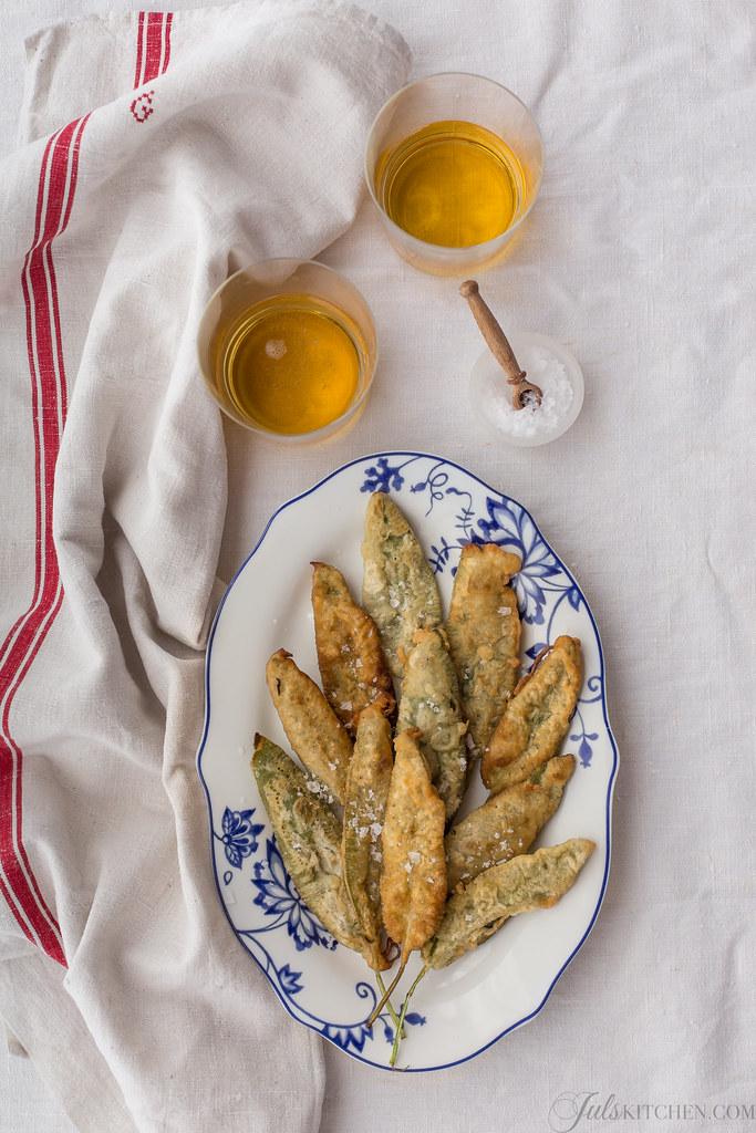 Fried sage leaves