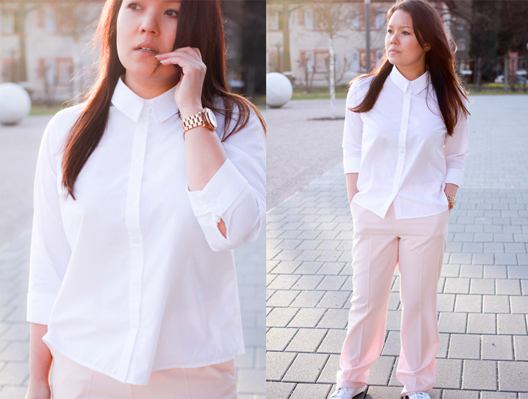 adidas Stan Smith Sneakers & Pale Pink Pants