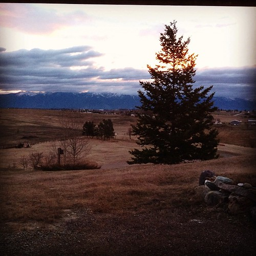 Sunrise over the Flathead Valley. #sunrise #light #kalispell #montana