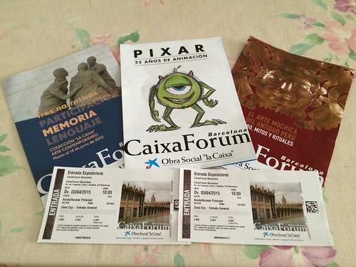 CaixaForum Barcelona. Tripticos y entradas