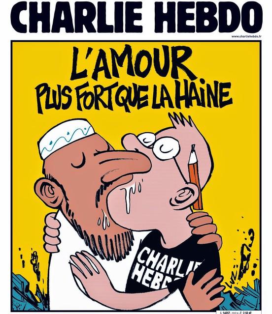 Charlie Hebdo l'Amour plus fort que la haine