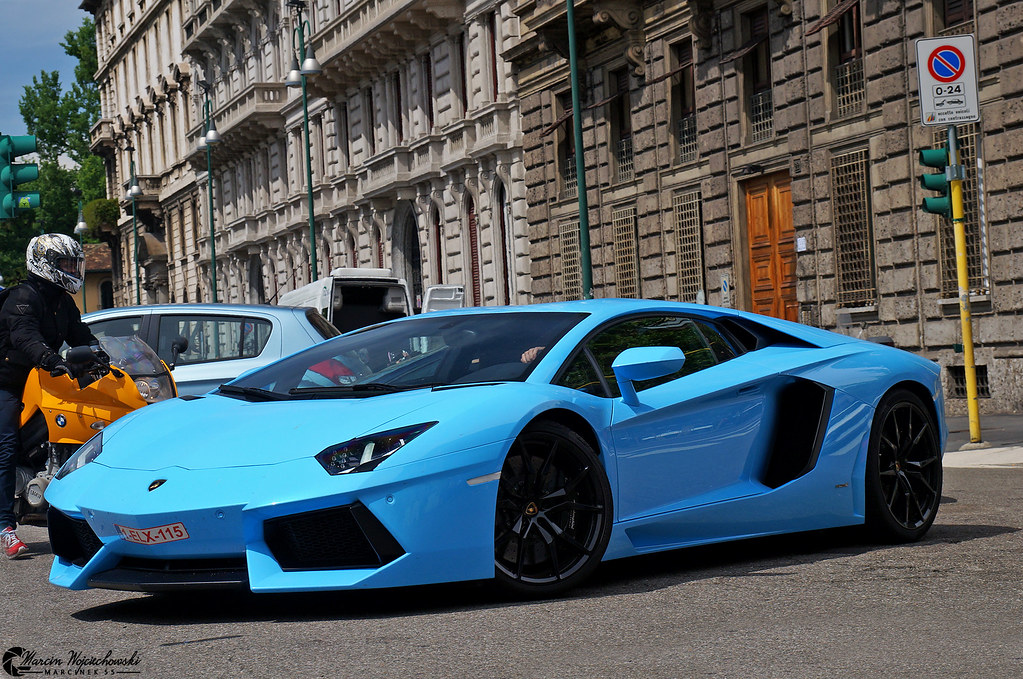 Lamborghini Aventador First And The Only One Baby Blue