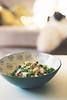 Quinoa + broccoli + turkey breast + parmesan