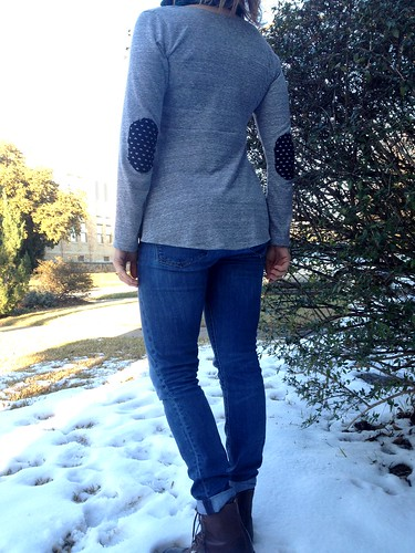 Plantain tee and honey cowl