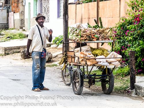 Vegetable Street Vendor in Cuba