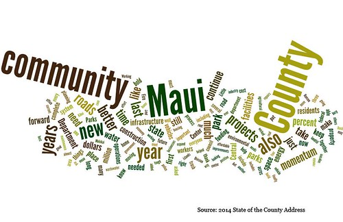 2014 Maui state of the county word cloud