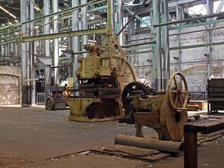 Empty metal workshop