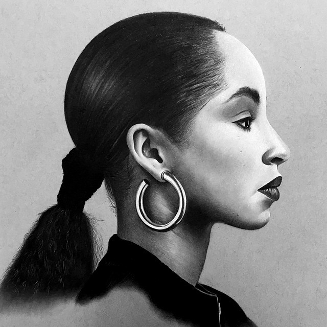 Tonight inspo vibe. You can love or hate her style of music but you certainly can not deny the beauty and power that is Sade.This drawing wasn't done that long ago but every time I run across it have listen. Whats your favorite Sade track? #inspo #inspire