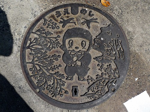Ueno Mie, manhole cover 3 (三重県上野市のマンホール3)