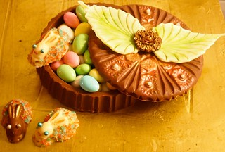 """Circle of Life"" Chocolate Box w/ Pop Rocks Encrusted Bunnies"