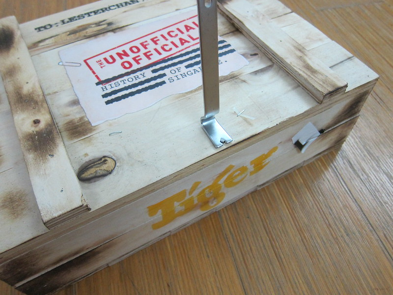 Tiger Beer Crate - Before Opening