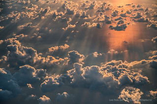 Stunning sunset from above