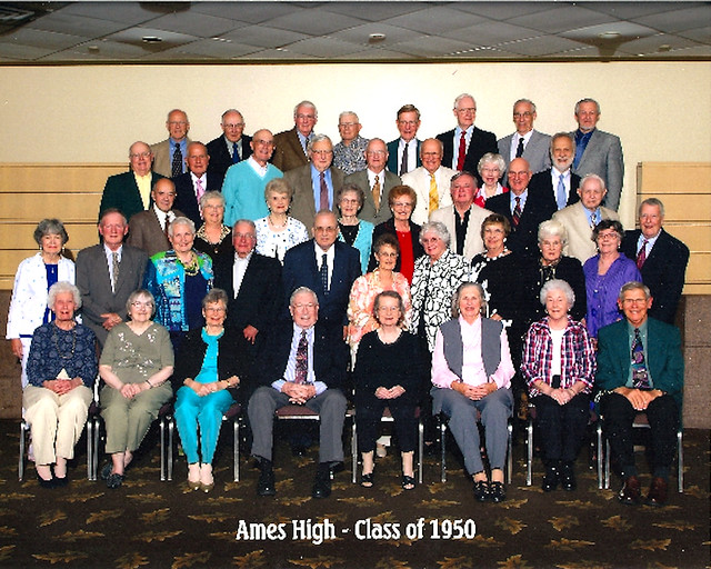 1950 AHS 60th Reunion held May 17-19 2010 Class Photo taken May 18 2010 #AmesHighClassof1950 #AHSClassPhoto