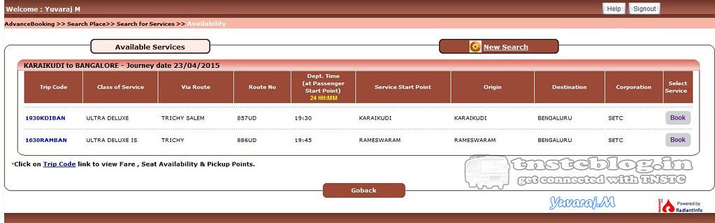 Rameswaram - Bengaluru SETC