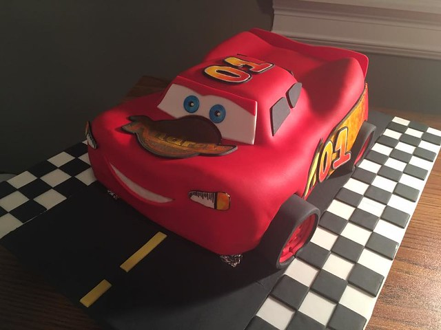 Cars Themed Cake by Craving Cakebuds