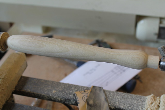 Sanded wooden handle
