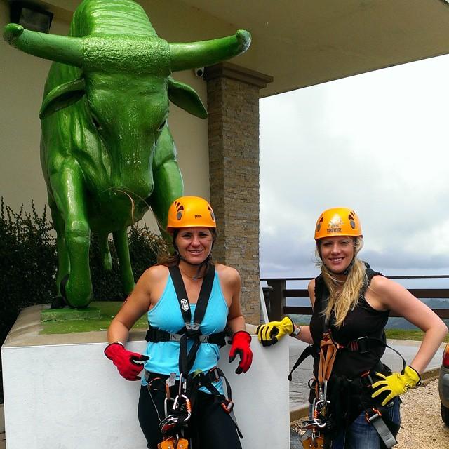 Torre Verde ... Zip lining. Lawd, why am I doing this again !? #triathletesarecrazy #triouradventure #PuertoRico