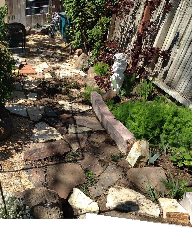 backyard path after