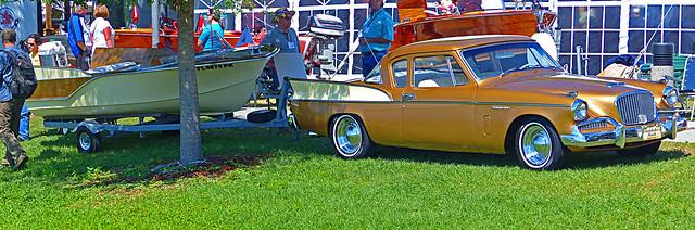Lake n Sea Runabout and 1958 Studerbaker Hawk