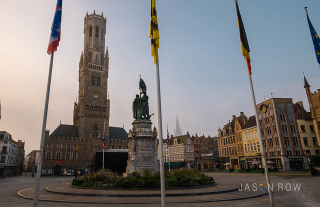 Early Morning on Grote Markt in Bruges